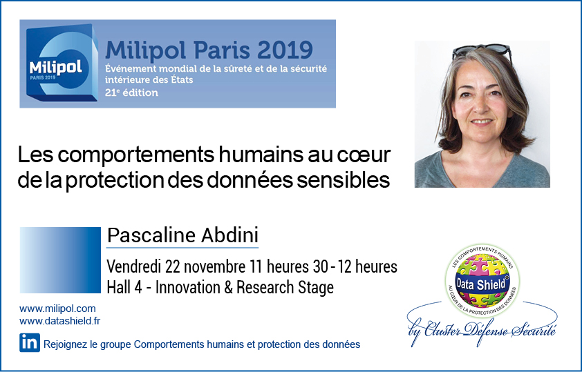 Pascaline Abdini protection des donnees Milipol Paris 2019
